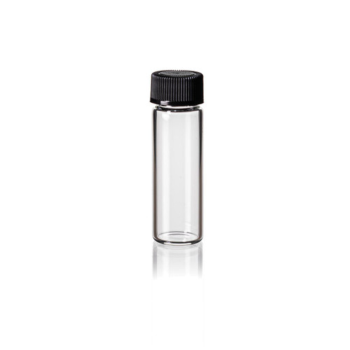1 1/2 Dram Clear Glass Vial w/ Cap
