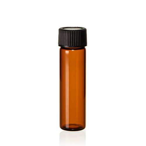 2 Dram Amber Glass Vial - 17 x 60 mm - Includes Cap!