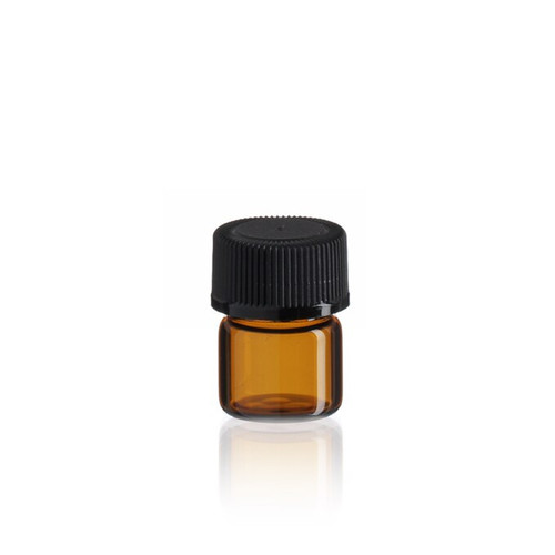 1/3 Dram Amber Glass Vial - Includes Cap!