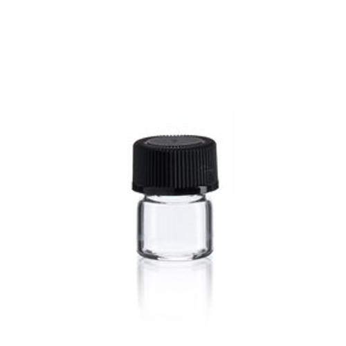 1/3 Dram Clear Glass Vial w/ Cap