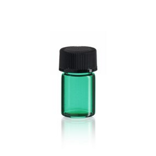 5/8 Dram Emerald Green Glass Vial - Includes Cap!