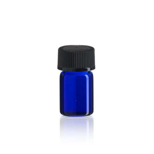 5/8 Dram Cobalt Blue Glass Vial - Includes Cap!