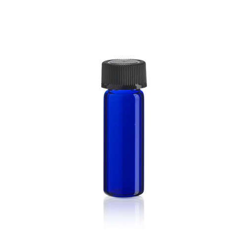 1 Dram Cobalt Blue Glass Vial - Includes Cap!