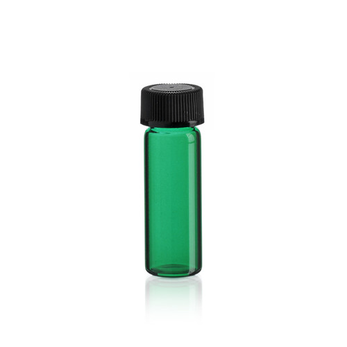 1 Dram Emerald Green Glass Vial - Includes Cap!