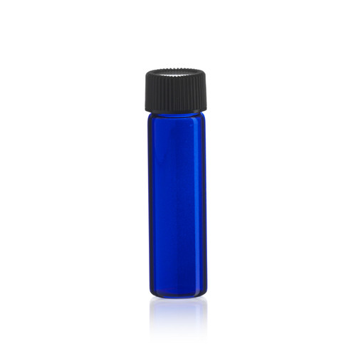 2 Dram Cobalt Blue Glass Vial - 17 x 60 mm - Includes Cap!