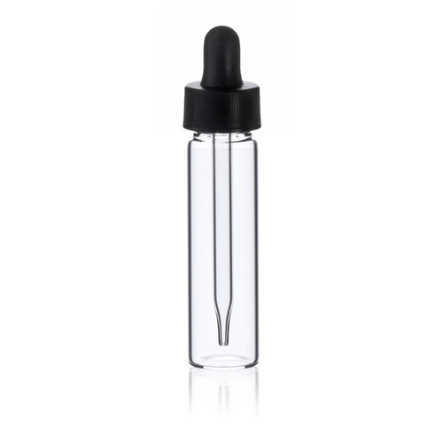 2 Dram Glass Vial - 17 x 60 mm - Includes Dropper!