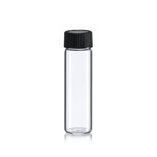 4 Dram Clear Glass Vial - 21 x 70 mm - Includes Cap!