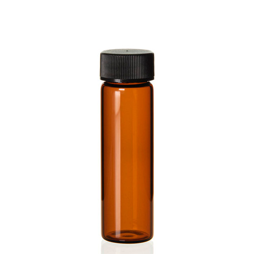 4 Dram Amber Glass Vial - 21 x 70 mm
