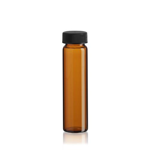 8 Dram Amber Glass Vial - 25 x 95 mm - Includes Cap!