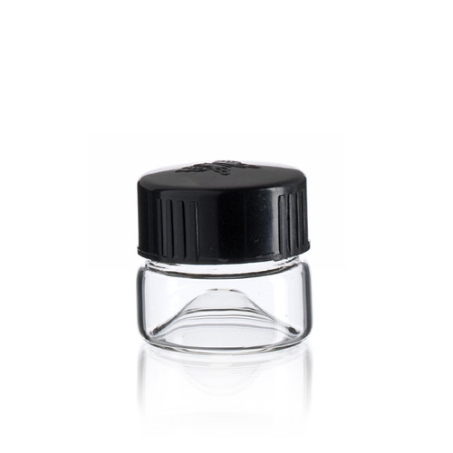 Wide Mouth Vial 27 x 23 mm - Concave Bottom - Includes Cap!