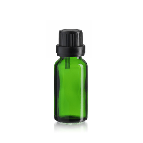 20 ml Emerald Green Euro Dropper Bottle - Pkg. of 156