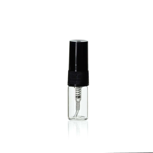 3 ml Clear Glass Sprayer Vial w/ Hood