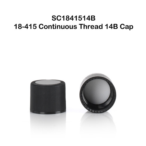 18 - 415 Continuous Thread Closure w/ 14B Rubber Liner