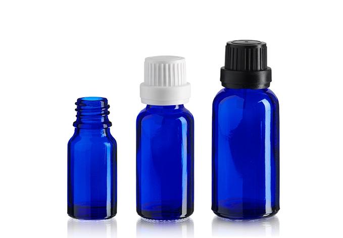 Cobalt Blue Euro Bottles