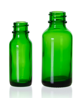 Emerald Green Boston Round Bottles