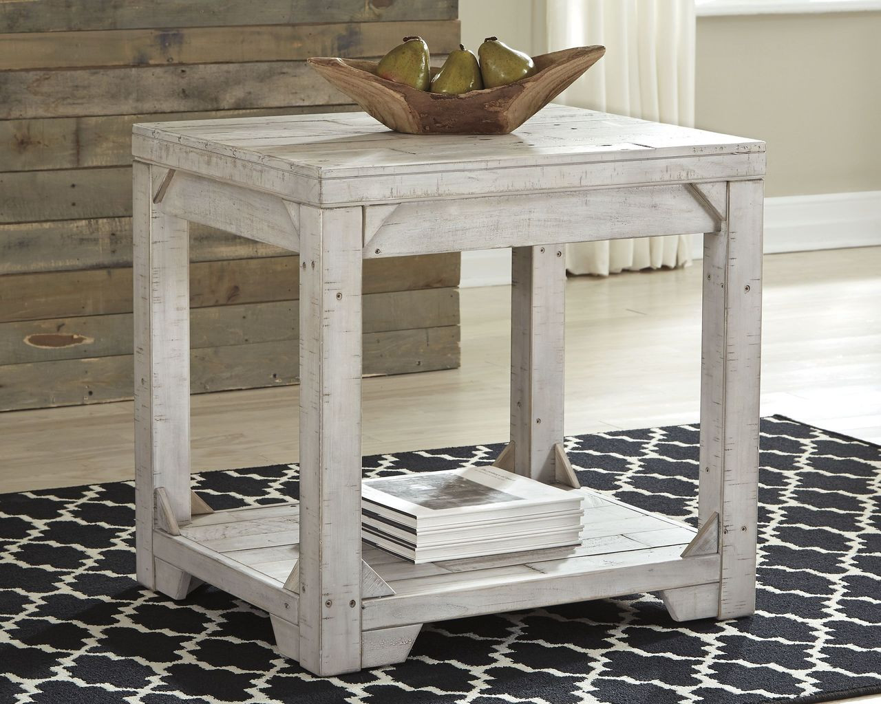 The Fregine White Wash Rectangular End Table Available At Furniture Place Serving Temple Hills And Forestville Md