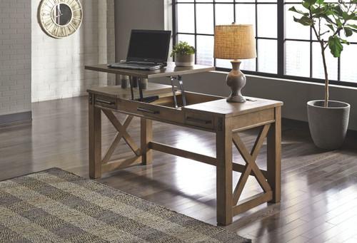 Aldwin Gray Home Office Lift Top Desk