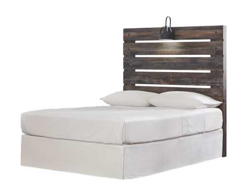 Drystan Multi Full Panel Headboard with Bolt on Bed Frame
