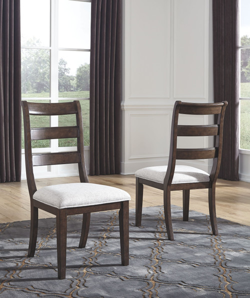 Adinton Reddish Brown Dining UPH Side Chair