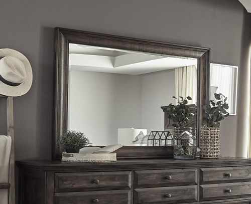 Avenue Rectangle Dresser Mirror Weathered Burnished Brown - 223034