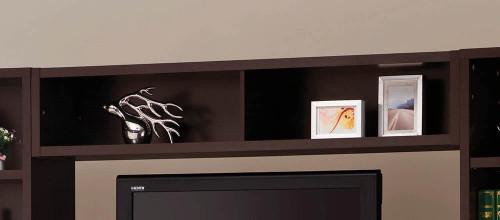 Living Room : Tv Consoles - Bridge With 2 Encased Storage Compartments Cappuccino - 700883