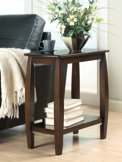 1-shelf Chairside Table Cappuccino - 900994