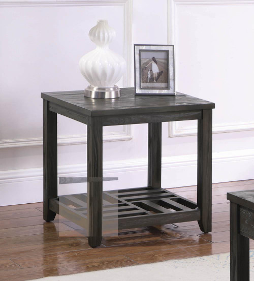 1-shelf Rectangular End Table Grey - 722287