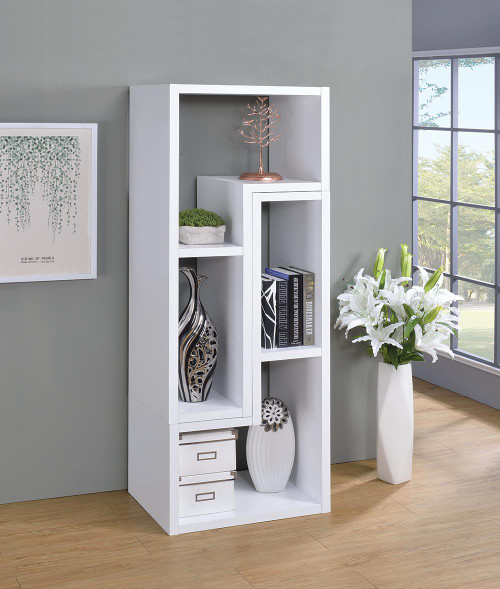 Home Office : Bookcases - Convertible Tv Console And Bookcase White - 800330