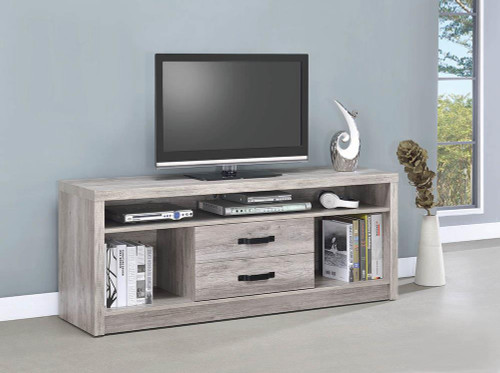 2-drawer Tv Console Grey Driftwood - 701024