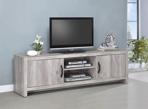 2-door Tv Console Grey Driftwood - 701025