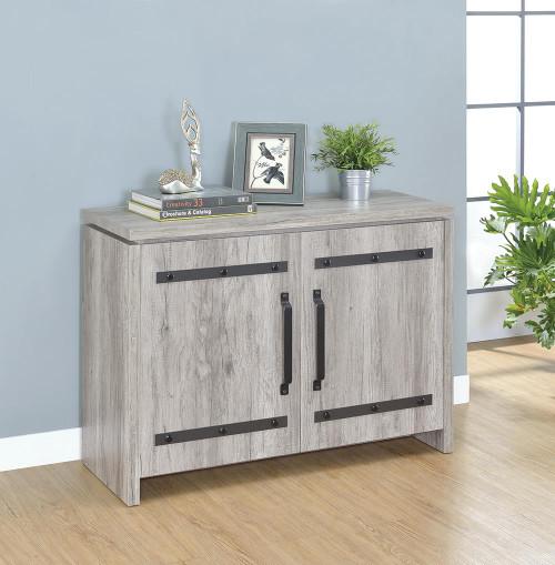 2-door Accent Cabinet Grey Driftwood - 950785