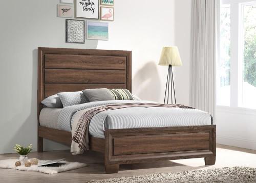 Brandon Bedroom Collection - Brandon Full Panel Bed Medium Warm Brown - 205321F