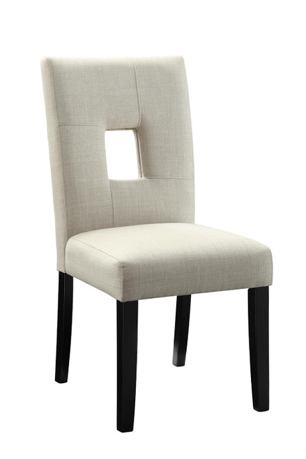 Andenne Collection - Beige - Upholstered Side Chairs Beige And Black (Set of 2) - 106652