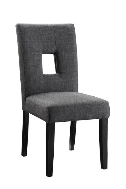 Andenne Collection - Grey - Upholstered Side Chairs Grey And Black (Set of 2) - 106656