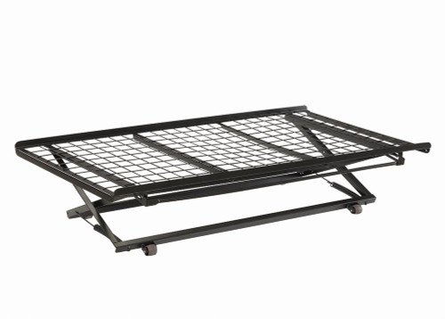 Bed Frames - Pop Up Trundle Bed With Rollers Black - 1137
