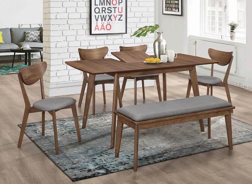 Alfredo Rectangular Dining Table Natural Walnut - 108080