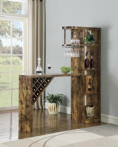 5-shelf Bar Table Storage Antique Nutmeg - 182127