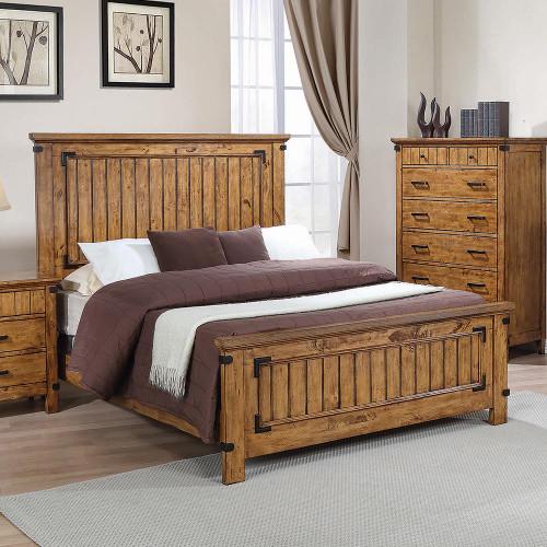 Brenner Collection - Brenner Full Panel Bed Rustic Honey - 205261F