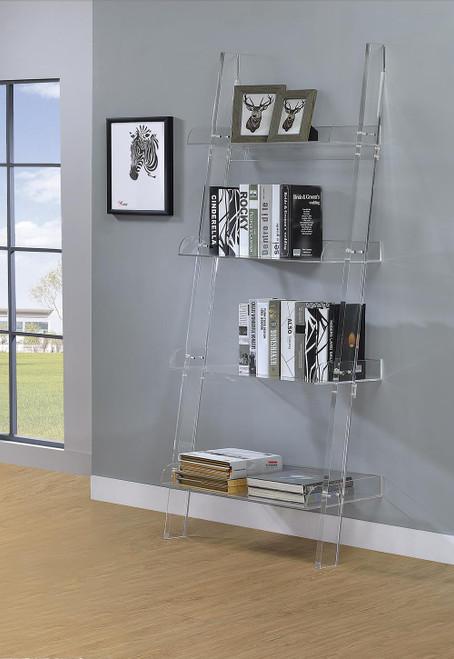 Amaturo Collection - Amaturo 4-shelf Ladder Bookcase Clear - 801553
