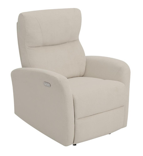 Beige - Upholstered Cushion Power Recliner Beige - 608938P