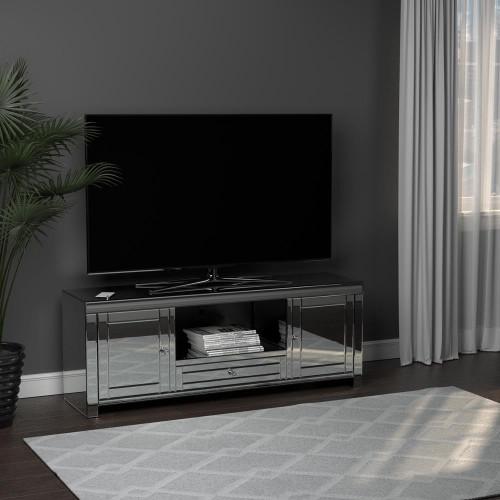 2-door Tv Console Silver - 723512
