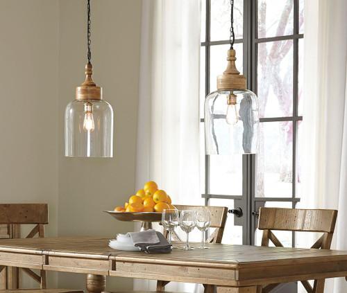 Faiz Transparent Glass Pendant Light