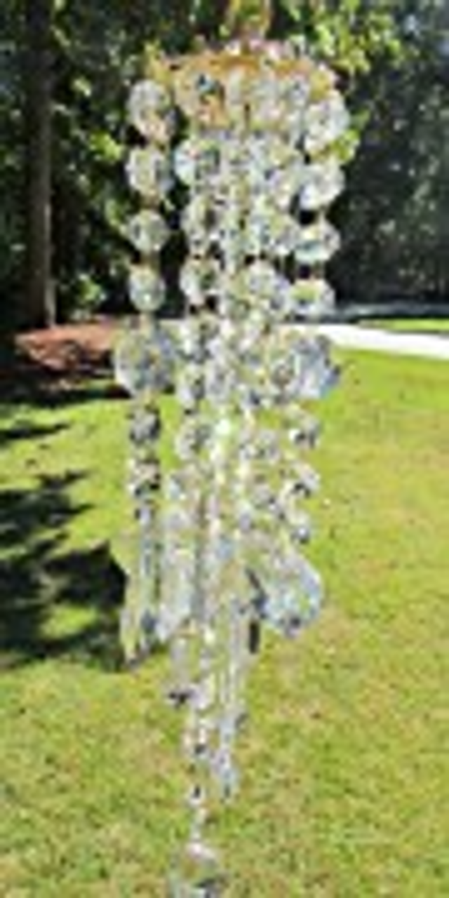 CLEAR CRYSTAL WIND CHIME, SUN CATCHER