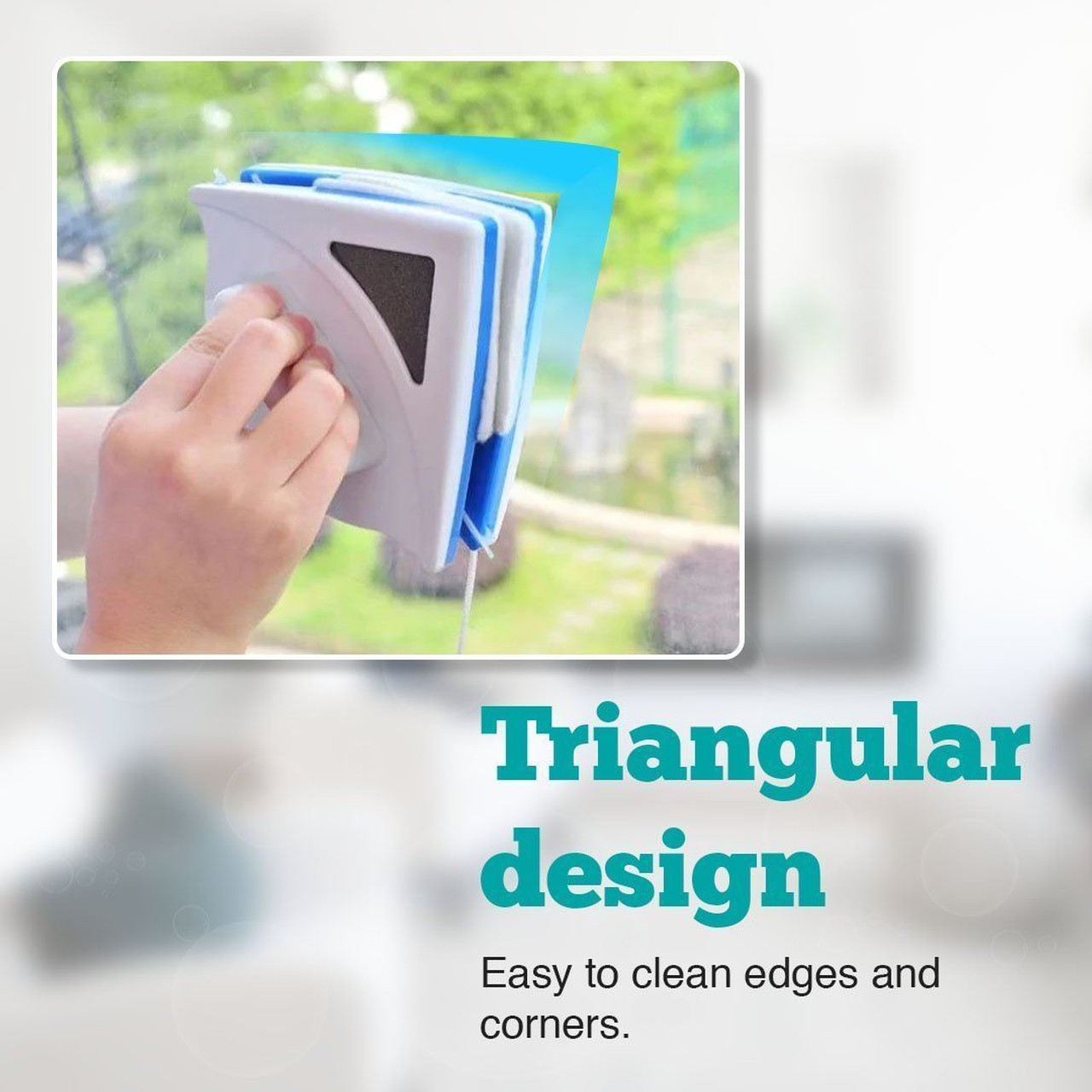 Domestic-Use Double-Sided Window Washer