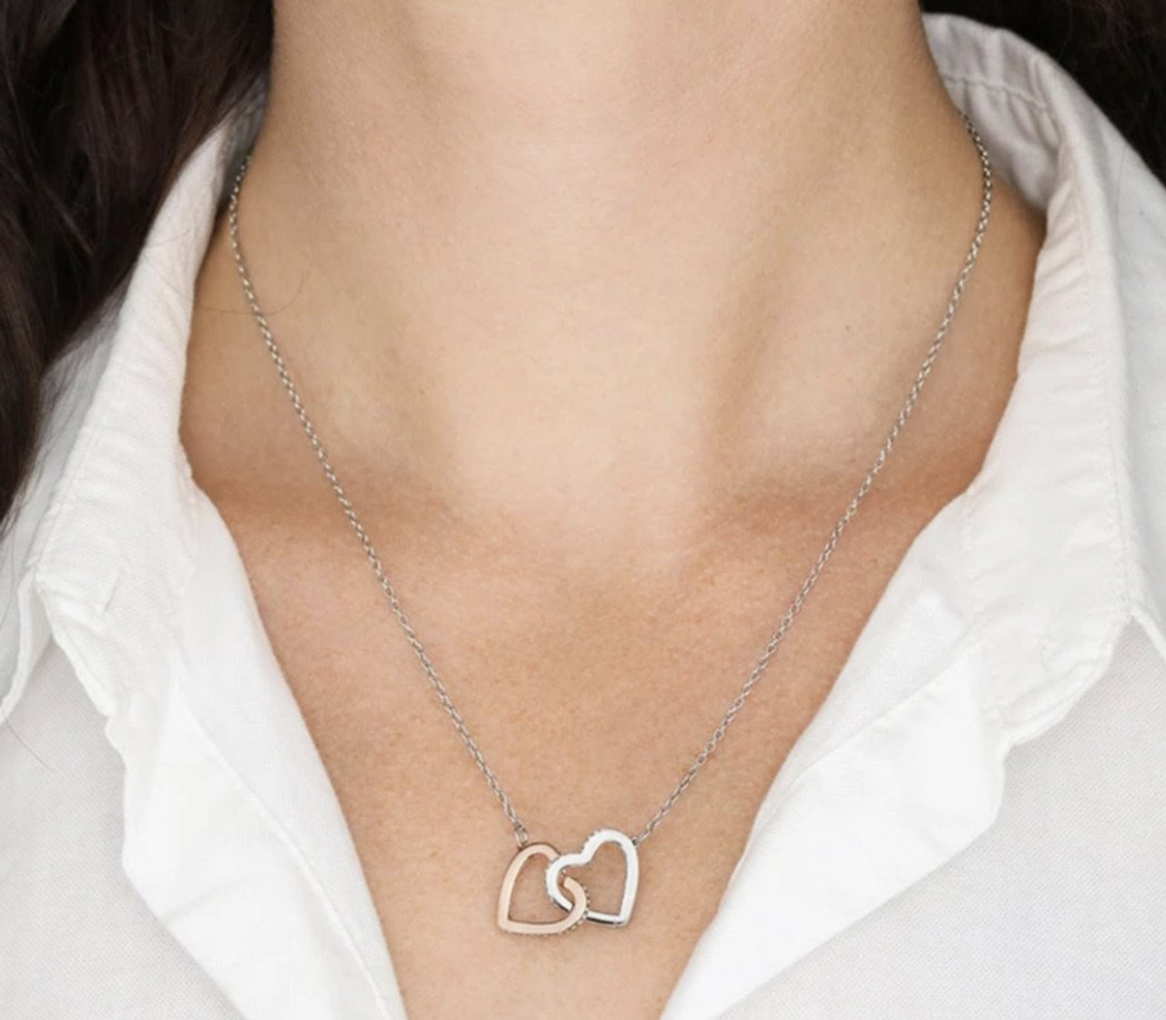 Unbiological Sister - Friendship Hearts Necklace...