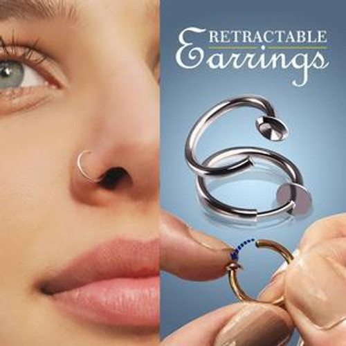 RETRACTABLE EARRINGS(2PCS 13MM)