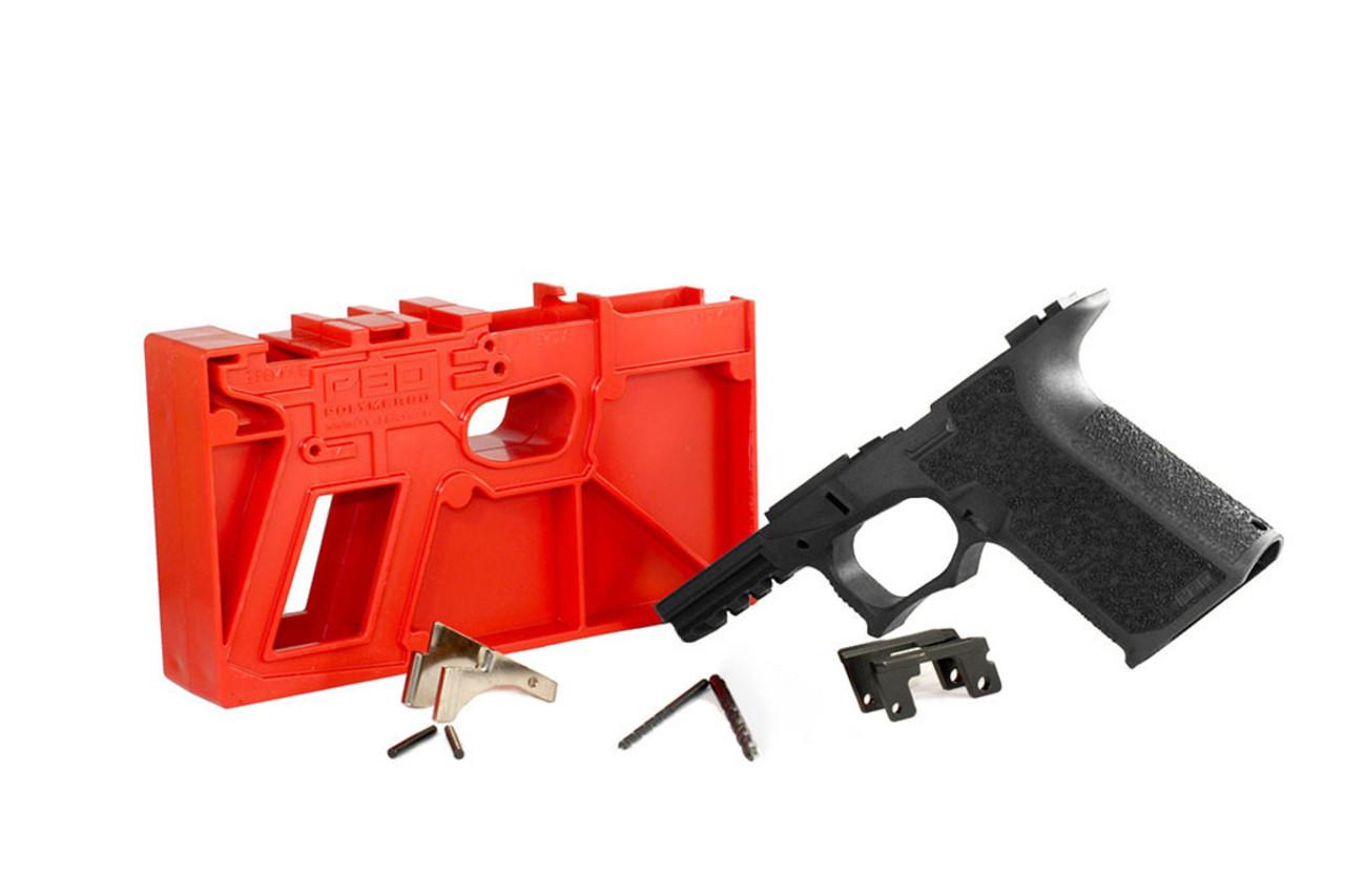 Polymer80 PF940CV1 80% Textured Compact Pistol Frame Kit for Glock Gen 3 G19/23
