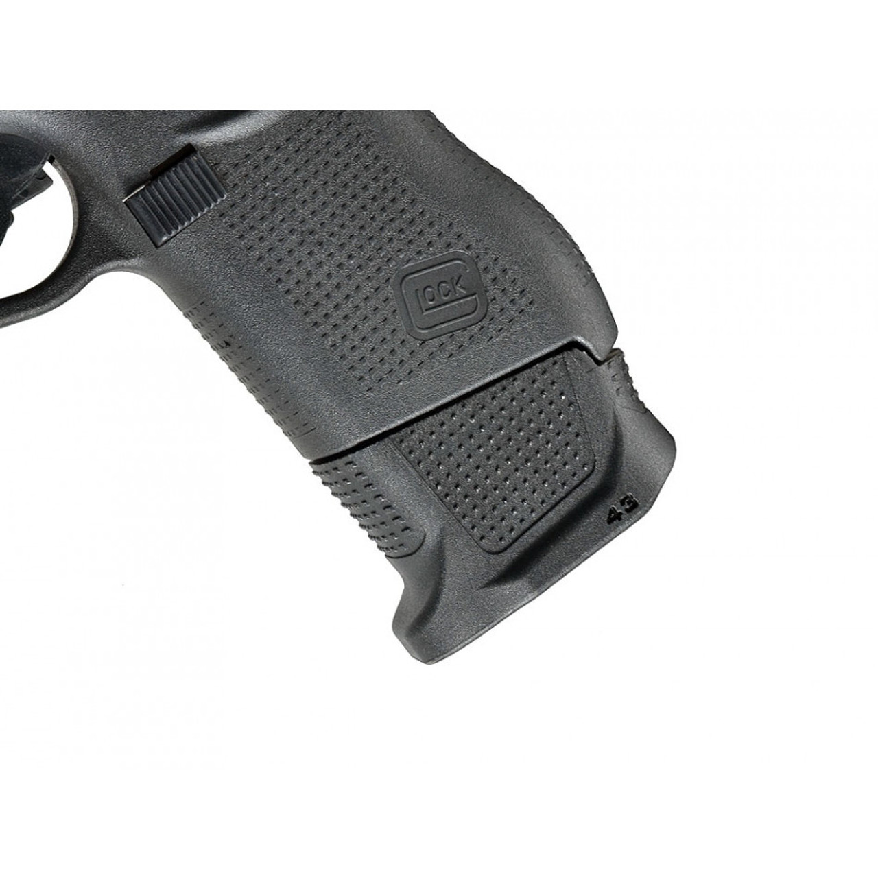 Strike Industries Enhanced Magazine Plate for Glock 43 - Plus 3 side view