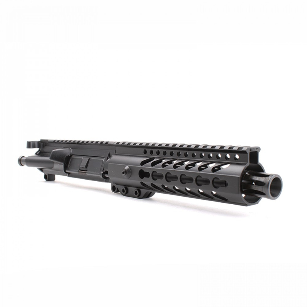 """MDX Arms AR-9mm Pistol 7.5"""" 1:10T with 7' Super Slim Mlok HG angled view"""