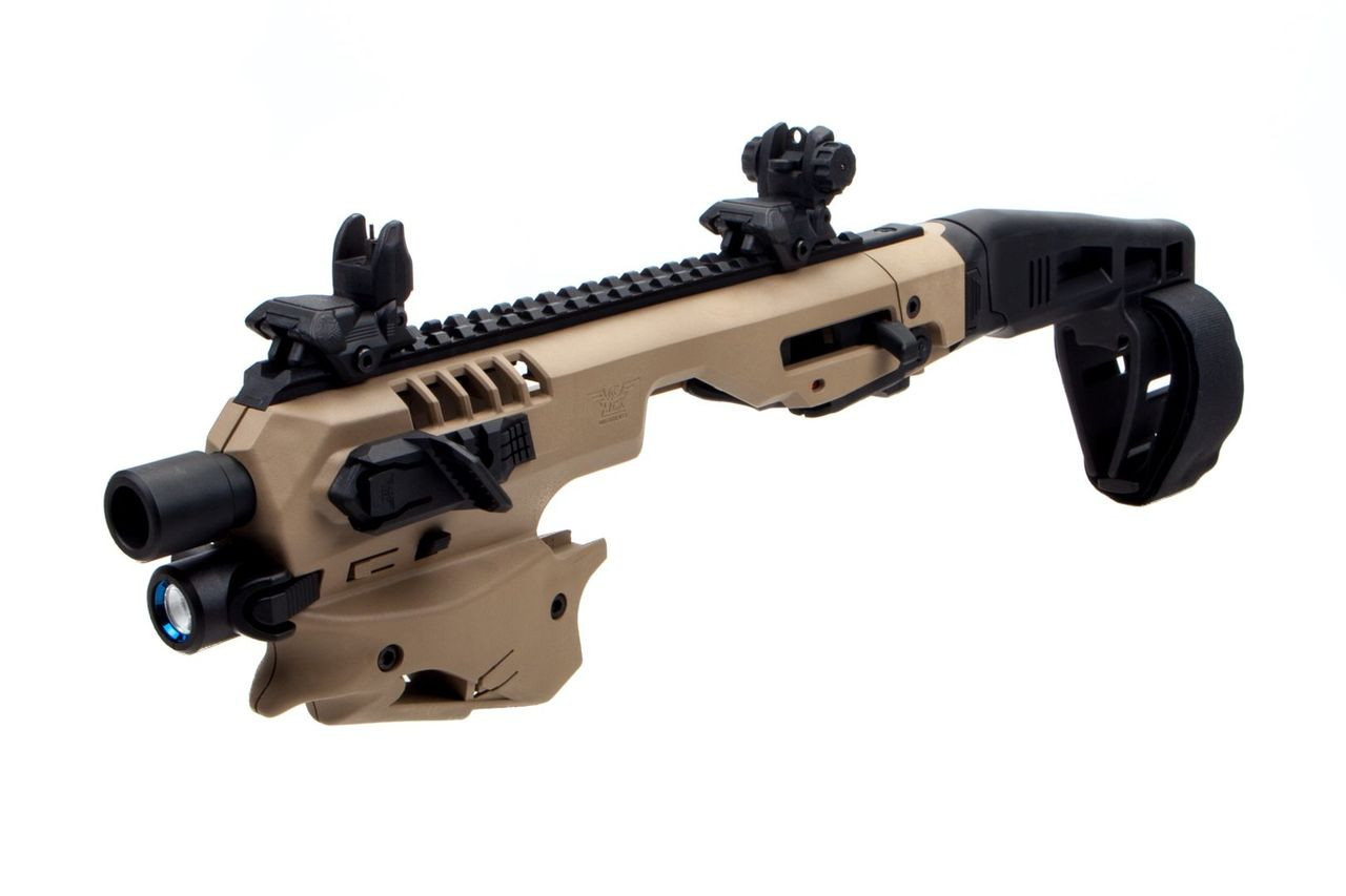 CAA Advanced Micro MCK Stabilizer Conversion Kit for Glock 17,19,19X,22,23,31,32,G45 in FDE Side